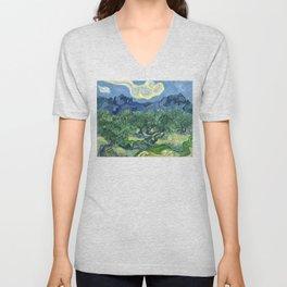 The Olive Trees by Vincent van Gogh Unisex V-Neck