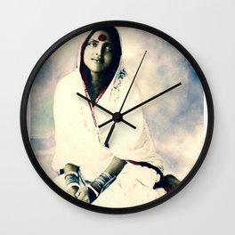 Sri Ma Anandamayi - Hindu Saint - for Blessings and Protection Wall Clock