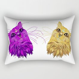 Realistic, Alternative Artimus and Luna (from Sailor Moon) Rectangular Pillow