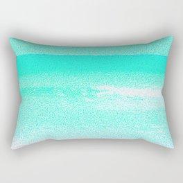 Blissful Beach - Turquoise Wave Rectangular Pillow