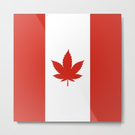 O Canada! (Hemp Flag) Metal Print