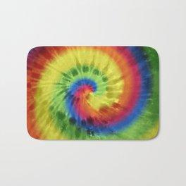 Boho Spiral Tie Dye Pattern Bath Mat