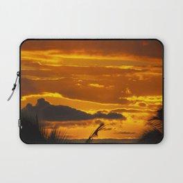 Blazing Sunset Over Maui, Hawaii Laptop Sleeve