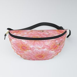 Heart with dahlias Fanny Pack