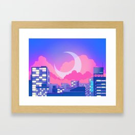 Dreamy Moon Nights Framed Art Print