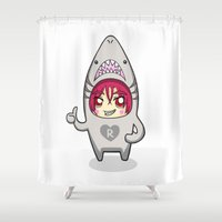 iwatobi Shower Curtains featuring Free! Onesies - Matsuoka Rin by Tsundere in the Sheets