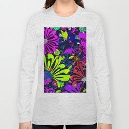 CHARTREUSE PURPLE MUMS FLOWER GARDEN Long Sleeve T-shirt
