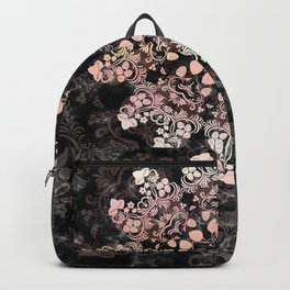 Floral ornament with strawberries silhouettes Backpack