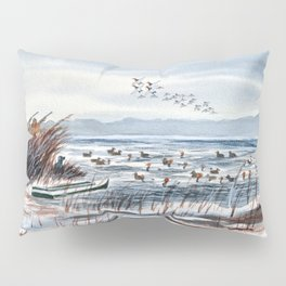 Duck Hunting For Canvasbacks Pillow Sham