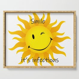 Infectious Smile Serving Tray