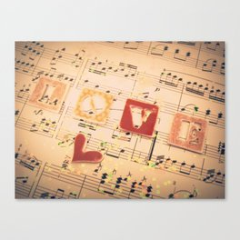 Music is Love in Search of a Word - ANALOG zine Canvas Print