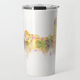 Colorful Stanford California Skyline - University Travel Mug