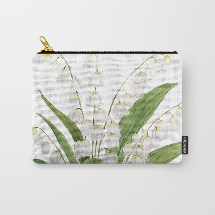 white lily of valley Carry-All Pouch