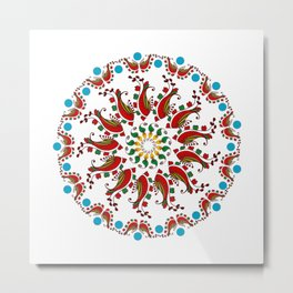 Hand drawn Mandala design Metal Print