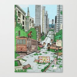Post Apocalyptic San Francisco Canvas Print
