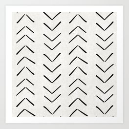 Mud Cloth Big Arrows in Cream Art Print