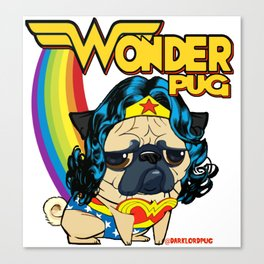 Wonder Pug Canvas Print