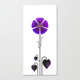 Flower of February - Violet Canvas Print