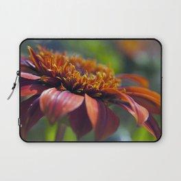Beautiful Orange Flower Macro Photo Laptop Sleeve
