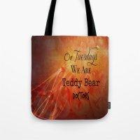 supernatural Tote Bags featuring Supernatural  by Artist Gaya
