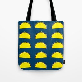 omg tacos! on navy Tote Bag