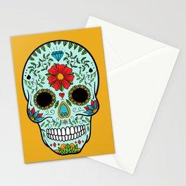 Colorful Skull V Stationery Cards