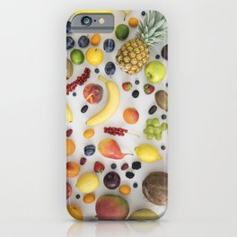 Collection of summer fruits iPhone Case