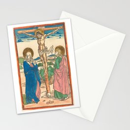 Christ on the Cross Between the Virgin and Saint John, 1493 Stationery Cards