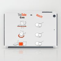 youtube iPad Cases featuring Youtube Cats vs Reality by The Blue Colibri