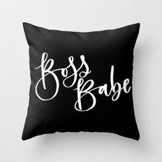Boss Babe Throw Pillow