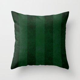 Emerald Stripes Throw Pillow