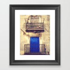Blue door Framed Art Print