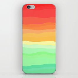 Rainbow - Cherry Red, Orange, Light Green iPhone Skin