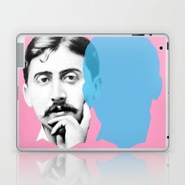 Marcel Proust portrait - pink blue Laptop & iPad Skin