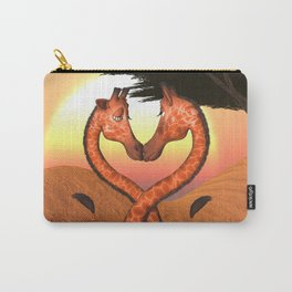 Giraffe Love Carry-All Pouch