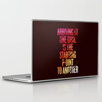 lettering Laptop & iPad Skins featuring Lettering 002 by Noem9 Studio