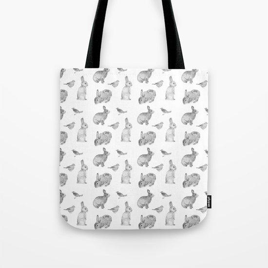 Bunny & Bird Tote Bag