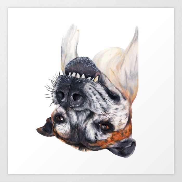Chuck crazy dog Art Print
