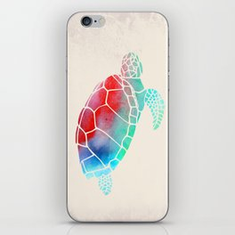 Watercolor Turtle iPhone Skin