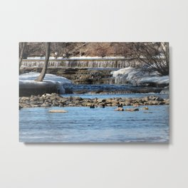 Winter Water Metal Print