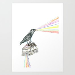 untitled crow Art Print