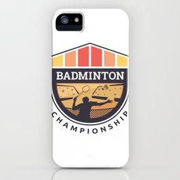 Badminton Badge iPhone Case