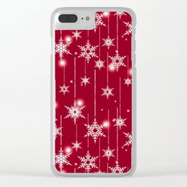 Bright Christmas background. Clear iPhone Case