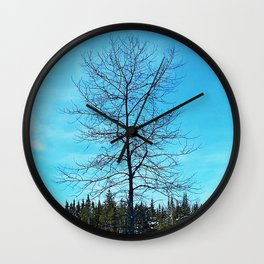 Alone and Leafless Wall Clock