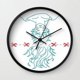 goodbye hair Wall Clock