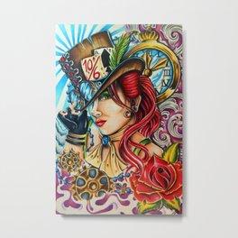 Lady Steampunk Metal Print