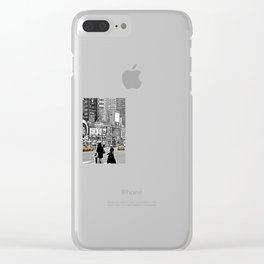 NYC Yellow Cabs Times Square - USA Clear iPhone Case