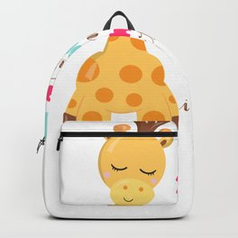 Giraffe Quotes Keep Your Feet on the Ground and Your Head in the Clouds Backpack
