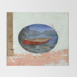 red canoe Throw Blanket
