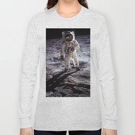 Buzz Aldrin on the Moon Long Sleeve T-shirt